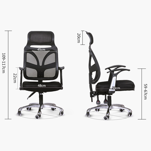 Designer Mesh High Back Office Chair with Headrest Image 7