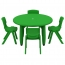 Cashish Height-Adjustable Rounded Table with Chairs