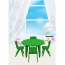 Cashish Height-Adjustable Rounded Table with Chairs Image 3
