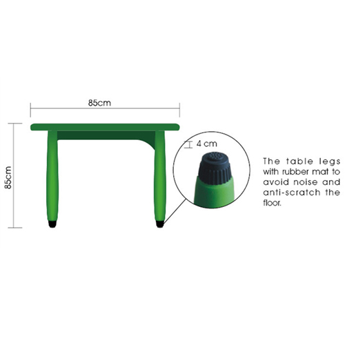Cashish Height-Adjustable Rounded Table with Chairs Image 6