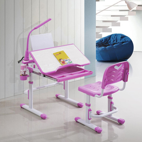 Ergonomic Study Table Chair Set with LED Lamp