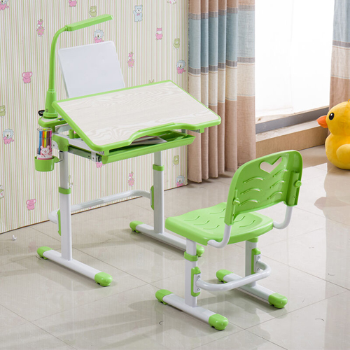 Ergonomic Study Table Chair Set with LED Lamp Image 2