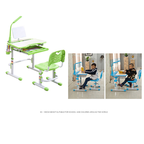 Ergonomic Study Table Chair Set with LED Lamp Image 4