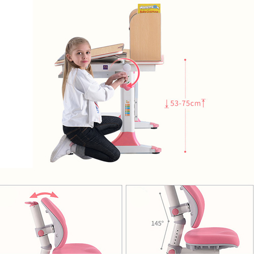 CreTech Children Lift Writing Desk With Chair Image 11