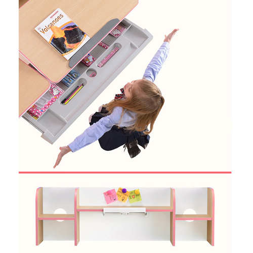CreTech Children Lift Writing Desk With Chair Image 12