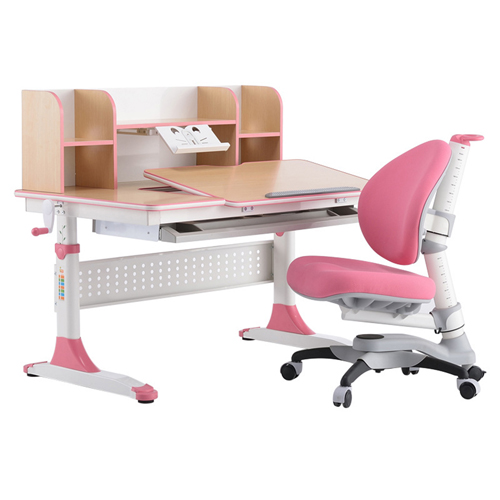 CreTech Children Lift Writing Desk With Chair Image 3