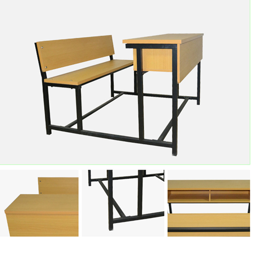Dual Desk Two Seater With Iron Frame Image 10