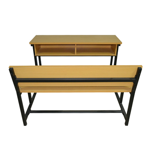 Dual Desk Two Seater With Iron Frame