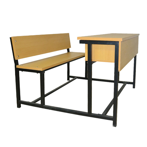 Dual Desk Two Seater With Iron Frame Image 4