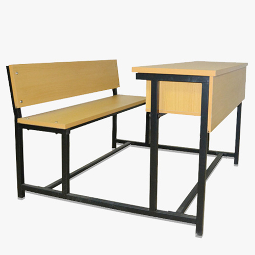 Dual Desk Two Seater With Iron Frame Image 8