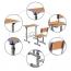 Kindergarten Lifting Single Study Table Image 4