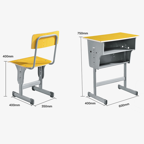 Standard Double Drawer School Desk Image 14
