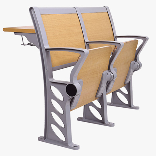 Bermo Metal Frame Wooden Auditorium Chairs Image 9
