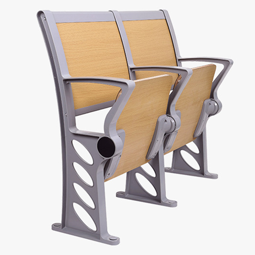 Bermo Metal Frame Wooden Auditorium Chairs Image 10