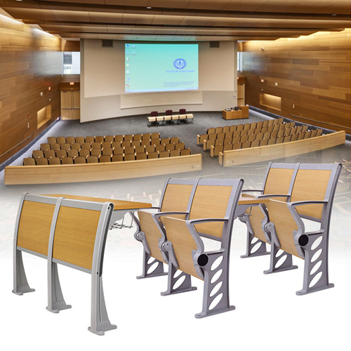 Bermo Metal Frame Wooden Auditorium Chairs Image 6