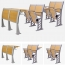Bermo Metal Frame Wooden Auditorium Chairs Image 8