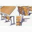 Strip Wooden Aluminum Auditorium Chairs Image 11