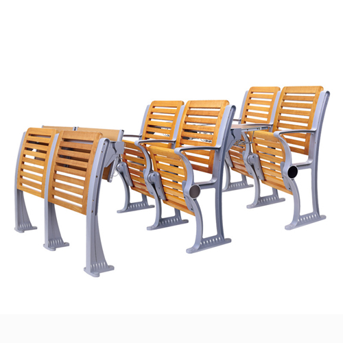 Strip Wooden Aluminum Auditorium Chairs Image 1