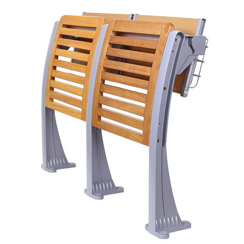 Strip Wooden Aluminum Auditorium Chairs Image 2