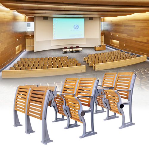 Strip Wooden Aluminum Auditorium Chairs Image 4