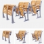 Strip Wooden Aluminum Auditorium Chairs Image 5