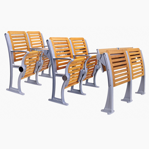 Strip Wooden Aluminum Auditorium Chairs Image 7