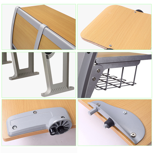 Folding Metal Student Row Chair Image 12