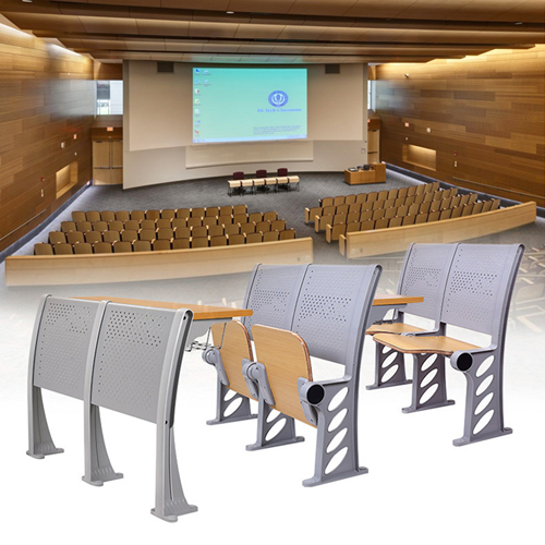 Candecor Wooden Seat Auditorium Chairs Image 5