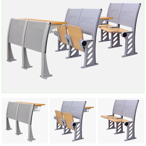 Candecor Wooden Seat Auditorium Chairs Image 7