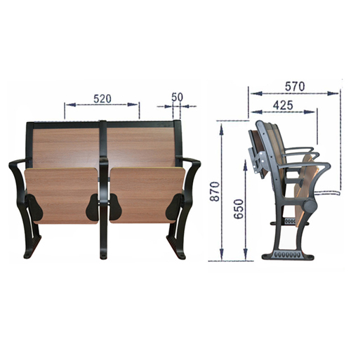 Double Folding Aluminum Study Chair Image 15