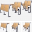 Daisu Aluminum Frame Wooden Desk Chairs