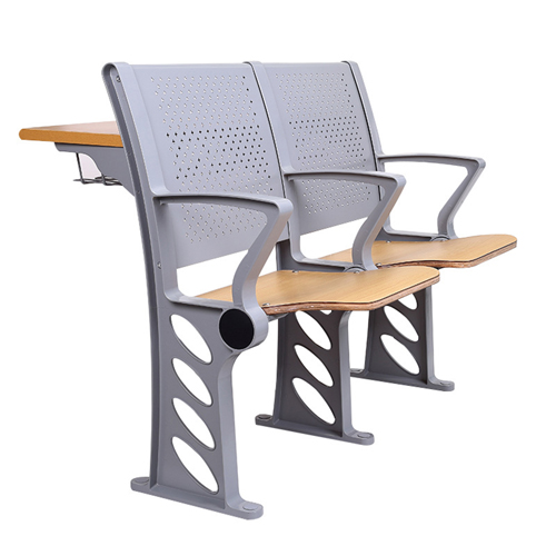 Aluminum Auditorium Chair With Storage Compartment Image 9