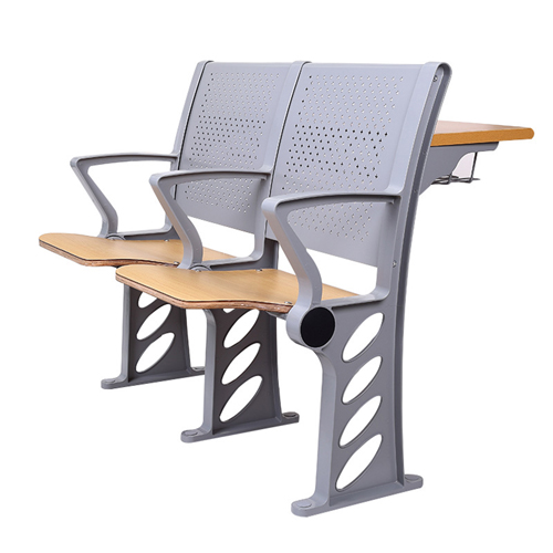 Aluminum Auditorium Chair With Storage Compartment