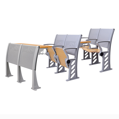 Aluminum Auditorium Chair With Storage Compartment Image 1