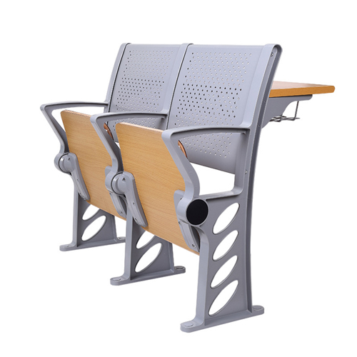 Aluminum Auditorium Chair With Storage Compartment Image 3