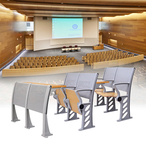 Aluminum Auditorium Chair With Storage Compartment Image 5