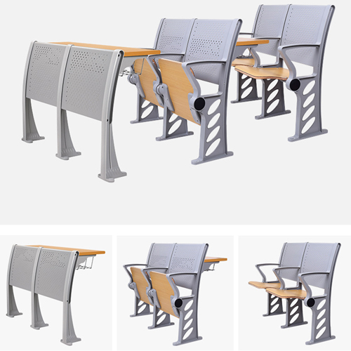 Aluminum Auditorium Chair With Storage Compartment Image 6