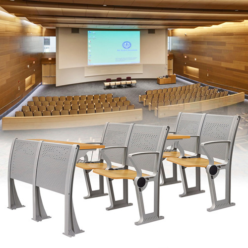 Folding Auditorium Seat With Storage Shelf Image 5