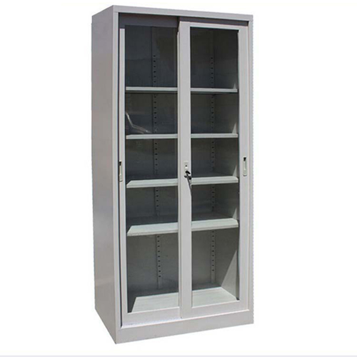 Edweb Metal Filing Cabinet With Sliding Door Image 4