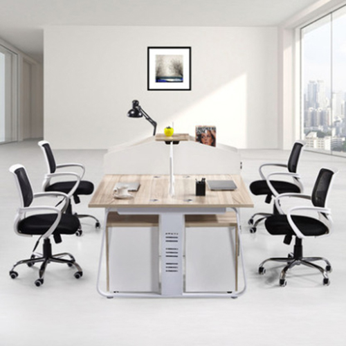 Modern Computer Workstation With Cabinet Image 1