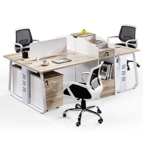 Modern Computer Workstation With Cabinet Image 2