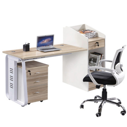 Modern Computer Workstation With Cabinet Image 3