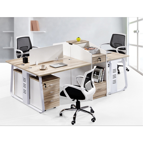 Modern Computer Workstation With Cabinet Image 6