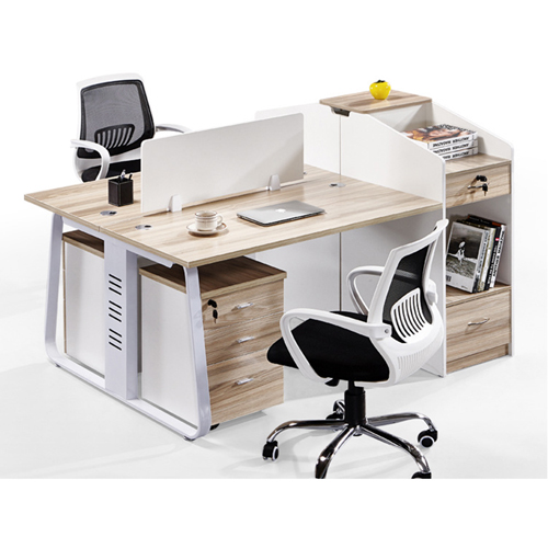 Modern Computer Workstation With Cabinet Image 7