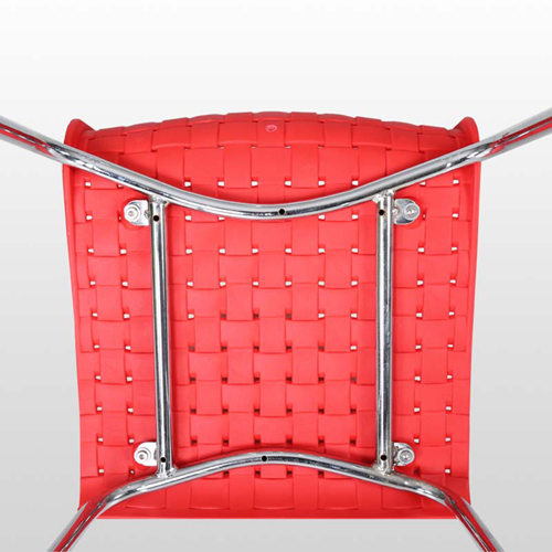 Woven Design Plastic Chair Image 16