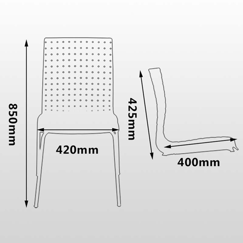 Woven Design Plastic Chair Image 22