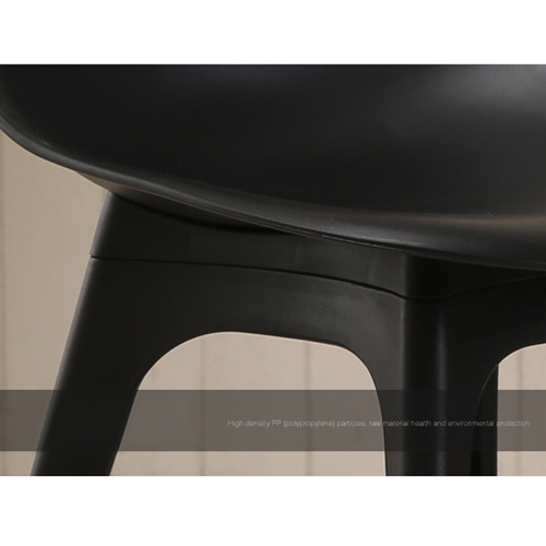 Molded Plastic Seat Shell Chair Image 11