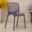 Pearlescent Perforated Back Chair Image 6