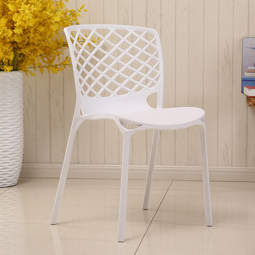 Pearlescent Perforated Back Chair Image 8