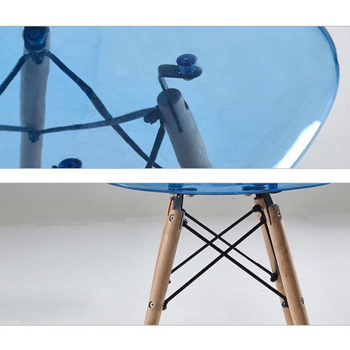 Crystal Dowel Base Chair